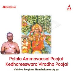 Polala Ammavaasai Poojai Kedhareeswara Viradha Poojai